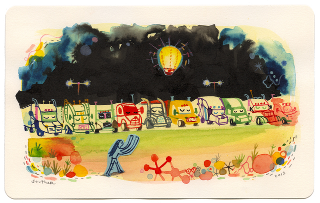 , 'Five Dollar Fire Balloons at the Truck Stop,' , Jonathan LeVine Projects