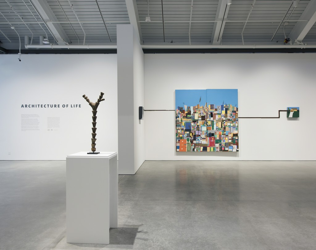 "Installation view of ""Architecture of Life"" at UC Berkeley Art Museum and Pacific Film Archive, Berkeley (2016)"