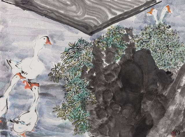 , '小园芳草绿, 笑看白鹅肥 Green Garden, Fat Goose,' 2016-2017, Aye Gallery