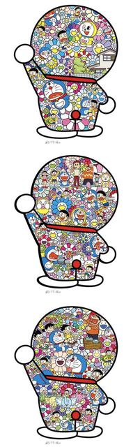 Takashi Murakami, 'Takashi Murakami x Doraemon Collaboration Silkscreens (Series of 3) ', 2019, Gin Huang Gallery