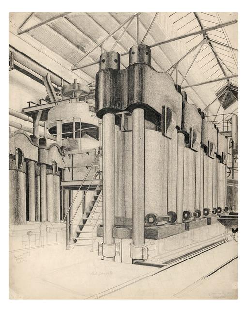 , 'Presse in einer chemischen Fabrik,' ca. 1933, Galerie Michael Hasenclever KG