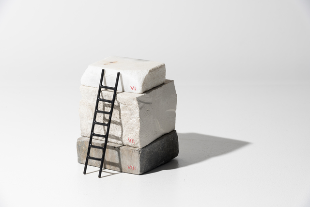 Adeline de Monseignat, 'Stack Sample V', 2019, Sculpture, Marble, Limestone and Patinated Bronze, bo.lee gallery