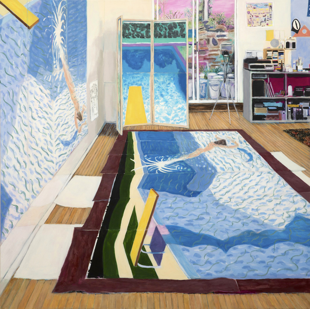 , 'David Hockney's Studio While Painting Paper Pools,' 2016, Modernism Inc.