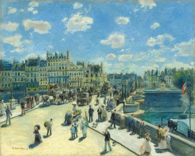 Pierre-Auguste Renoir, 'Pont Neuf, Paris', 1872, National Gallery of Art, Washington, D.C.