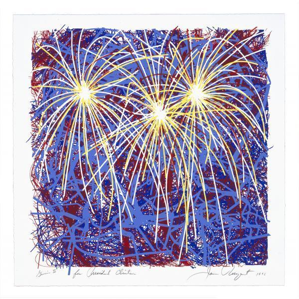 James Rosenquist, 'Fireworks for President Clinton', 1996, Print, Screenprint in colors, Upsilon Gallery