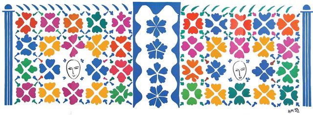 Henri Matisse, 'Decoration Masques', 1953, Print, Color lithograph, Hans den Hollander Prints