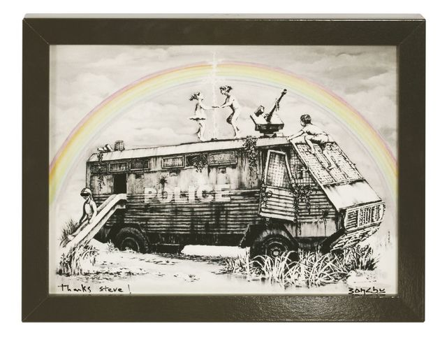 Banksy, 'Police Riot Van (Dismaland Gift Print)', 2015, Print, Digital print in colours with unique hand alteration, Sworders