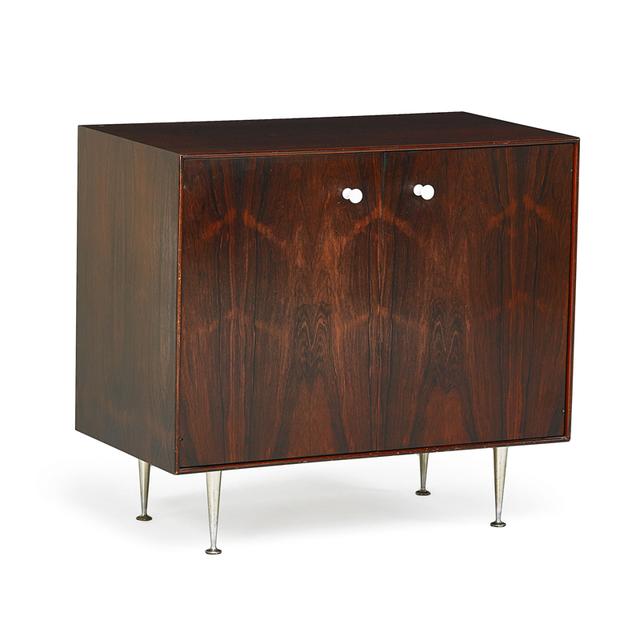 George Nelson, 'Thin Edge Cabinet, Zeeland, MI', 1950s, Design/Decorative Art, Rosewood, Plastic-Coated Metal, Aluminum, Rago/Wright