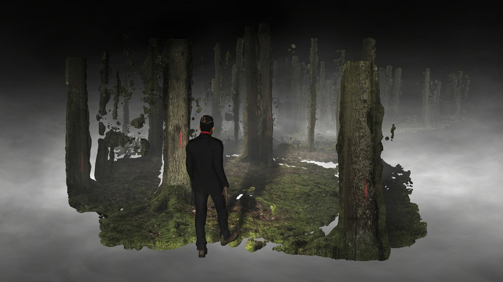 AKINCI @ Art Rotterdam Projections 2019, animated film by Broersen & Lukács: 'Forest on Location'