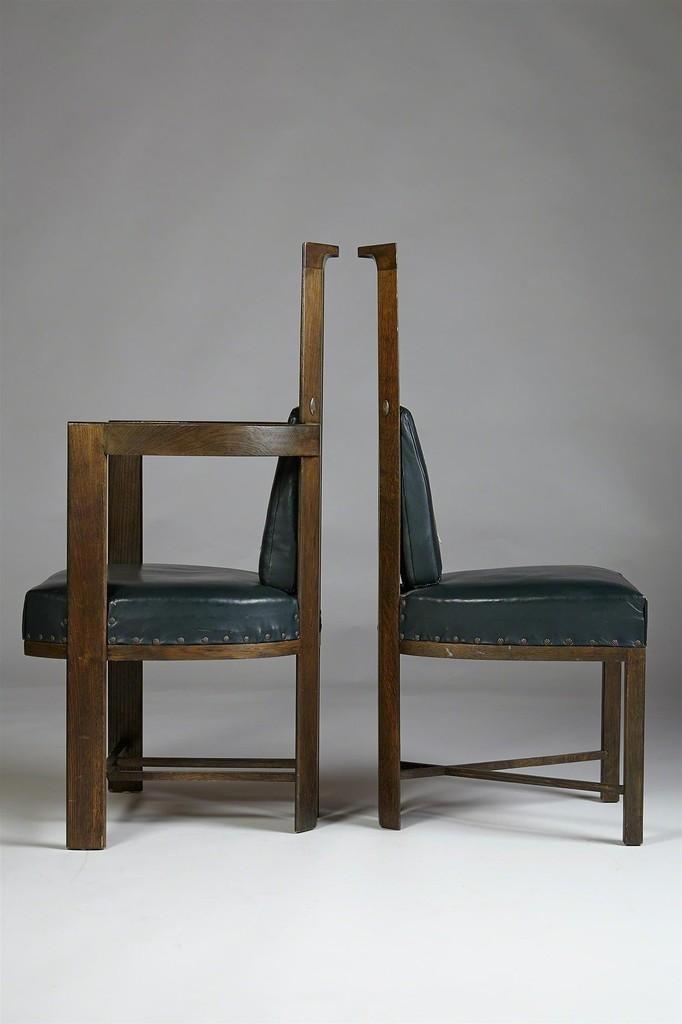 Eliel Saarinen Set Of Dining Chairs For Keirkner