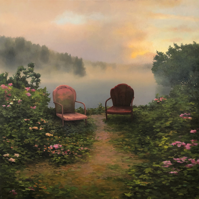 Scott Prior, 'Two Chairs by the River', William Baczek Fine Arts