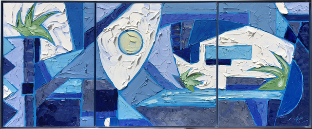 JD Miller, 'Blue Nirvana Triptych', ca. 2017, Samuel Lynne Galleries