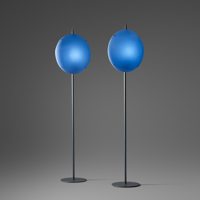 Gio Ponti, 'Pair of Luna Lamps from Villa Arreaza, Caracas', 1954, Wright
