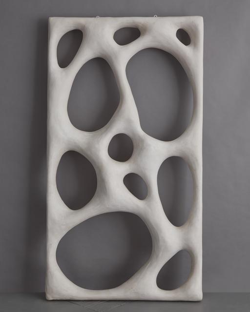 """Rogan Gregory, '""""Large Portal"""" Sculptural Screen', 2018, Sculpture, Gypsum, pigment, wood, R & Company"""