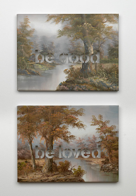 , 'Armchair Painting - Untitled (be good), (be loved),' 2007, Federico Luger (FL GALLERY)