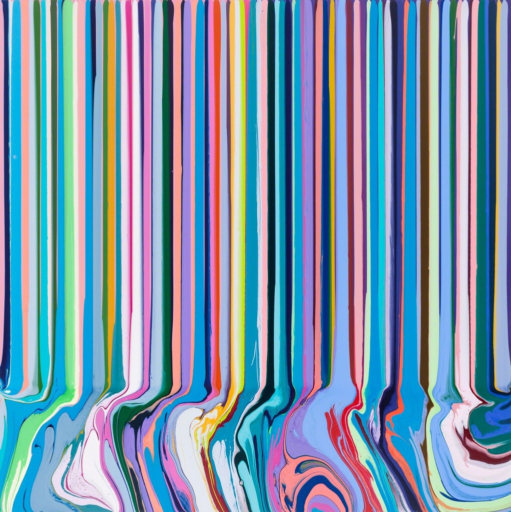 Ian Davenport, 'Colourcade: Pink, Purple', 2016, Paul Kasmin Gallery
