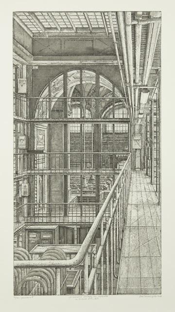 Erik Desmazières, 'La Coursive nord-sud, from Le Magasin central des imprimés', 2013, Childs Gallery