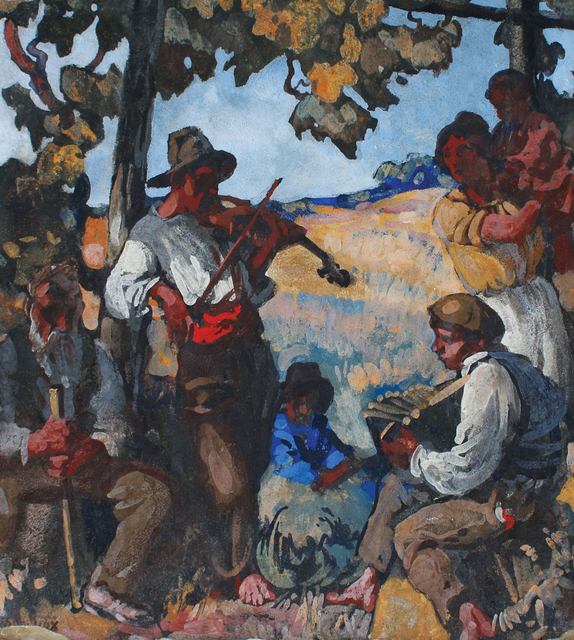 , 'Italian Musicians / Quarrymen in Brecksville,' ca. 1915, WOLFS