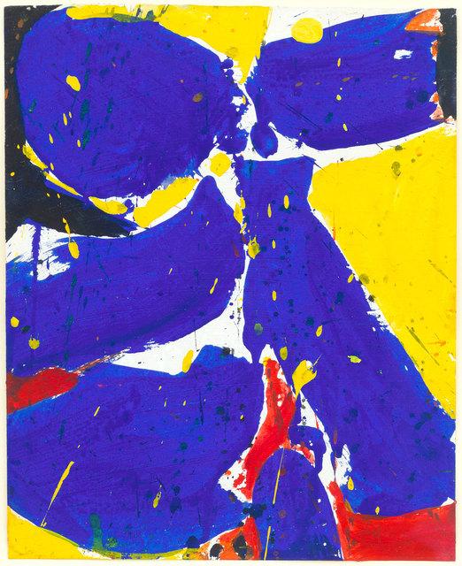 Sam Francis, 'Untitled (Blue-Yellow)', 1959, Edward Tyler Nahem Fine Art LLC