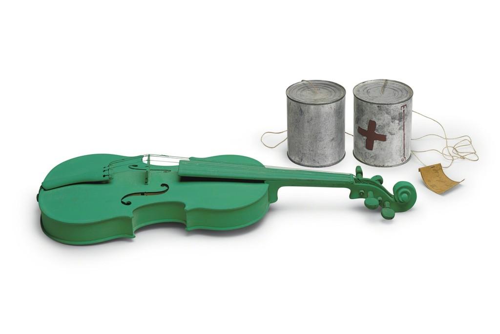 "Joseph Beuys ""Green Violin (Musik als Grün (grüne Geige))"", 1974"