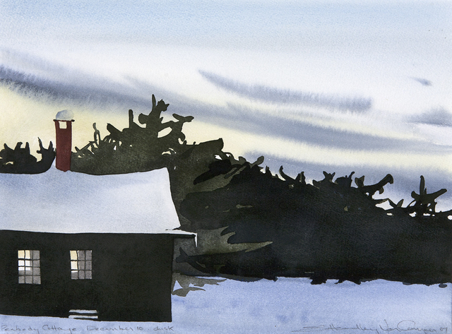 , 'Peabody Cottage Dusk, December 10,' , Dowling Walsh