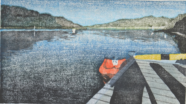 , 'The Red Boat,' 2017, Open Bite Printmakers