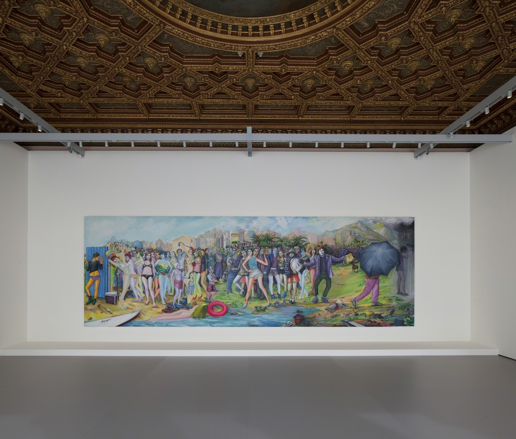Martial Raysse, Ici Plage, comme ici-bas, 2012 Pinault Collection. Installation view at Palazzo Grassi 2015 Ph : © Fulvio Orsenigo © Martial Raysse by SIAE 2015