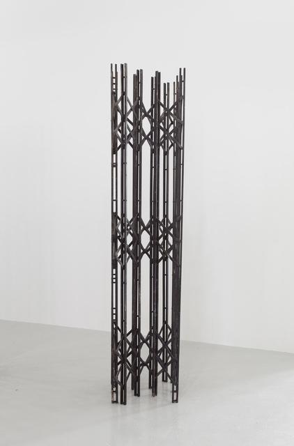 , 'Scherengitter 2 (black),' 2014, RaebervonStenglin