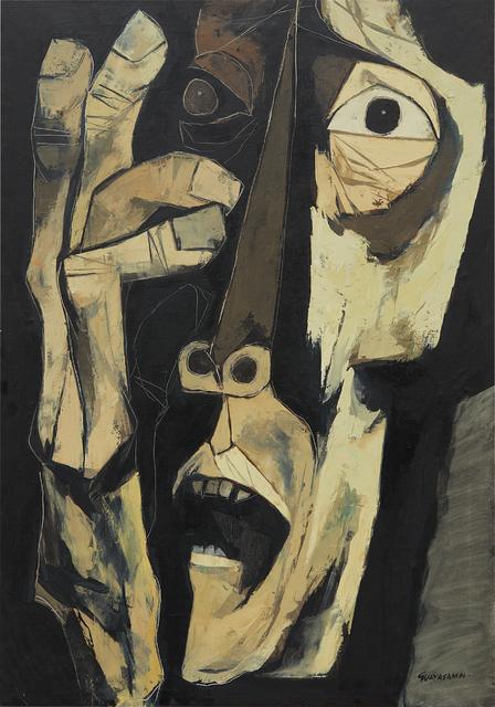 Oswaldo Guayasamín, 'Cabeza y mano', 1973, Phillips