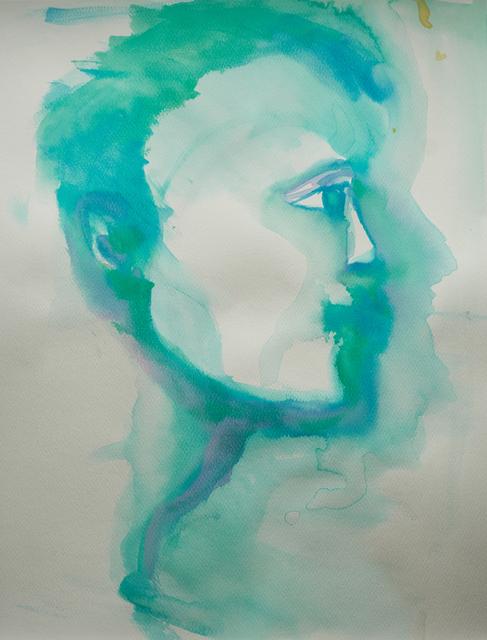 Alexandra Bregman, 'Man's Face in Blue', 2018, MvVO ART