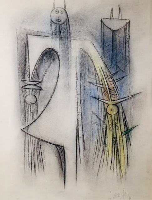 Wifredo Lam, 'Untitled ', ca. 1964, Drawing, Collage or other Work on Paper, Pastel on paper, Galleria Ferrari