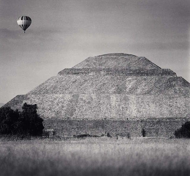 Michael Kenna, 'Balloon and Pyramid of the Sun, Teotihuacon', 2006, Robert Mann Gallery