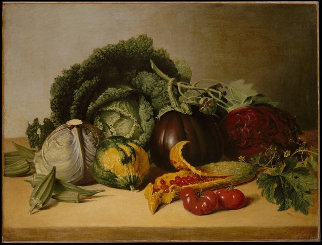 James Peale, 'Still Life: Balsam Apple and Vegetables', ca. 1820-1829, The Metropolitan Museum of Art