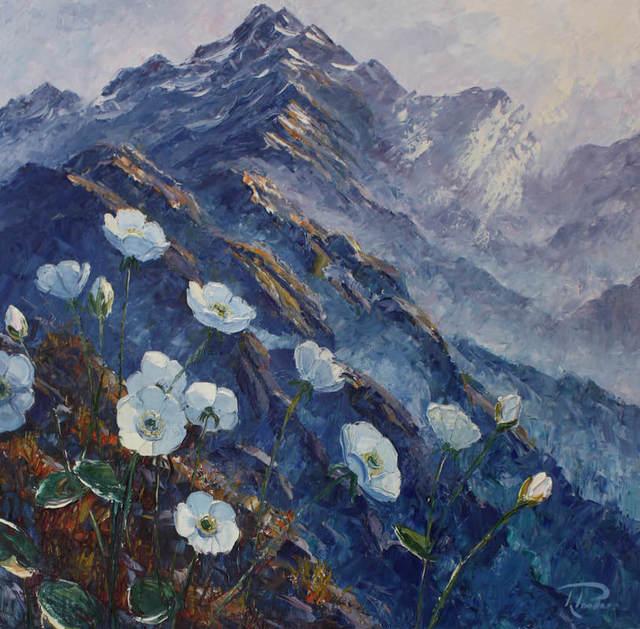 Richard Ponder, 'Mount Cook Lilies', 2017, Painting, Oil on Canvas, Black Door Gallery