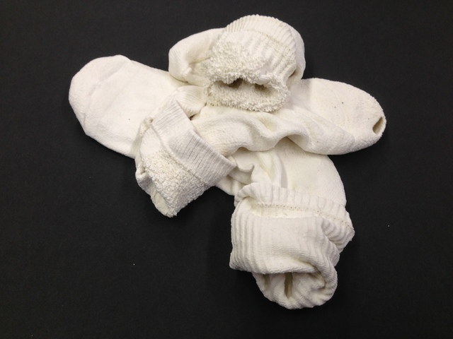 , 'Holed socks,' 2014, Anne Mosseri-Marlio Galerie