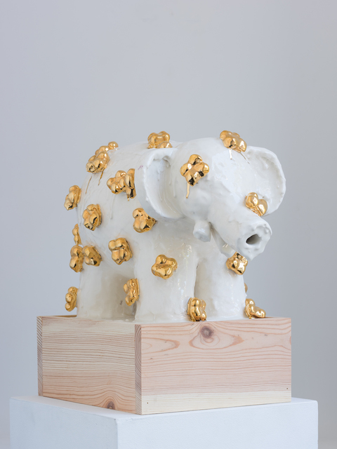 , 'Elefant with Gold Flowers,' 2016, PDX CONTEMPORARY ART