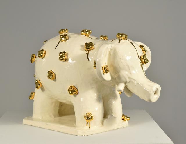 , 'Elephant with Golden Flowers #1,' 2017, Winston Wächter Fine Art