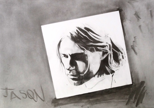 , 'Unfinished Drawing (Kurt Cobain),' 2014, David Risley Gallery