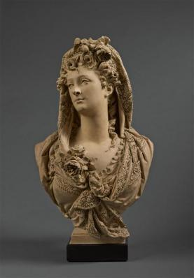 Albert-Ernest Carrier-Belleuse, 'Marguerite Bellanger, buste de fantaisie (Marguerite Bellanger, Fantasy Bust)', about 1868, Musées et domaine nationaux du palais de Compiègne
