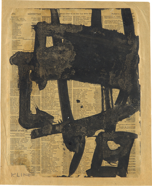 Franz Kline, 'Untitled', circa 1950, Phillips