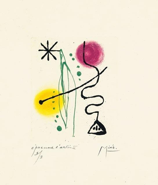 Joan Miró, 'Suite La Bague D'Aurore - plate 11', 1957, Galerie Maximillian
