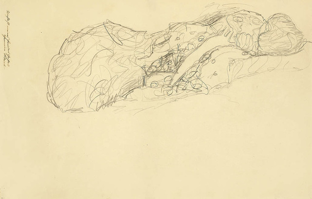 , 'Reclining Woman to the Right,' 1916-1917, Galerie Bei Der Albertina Zetter