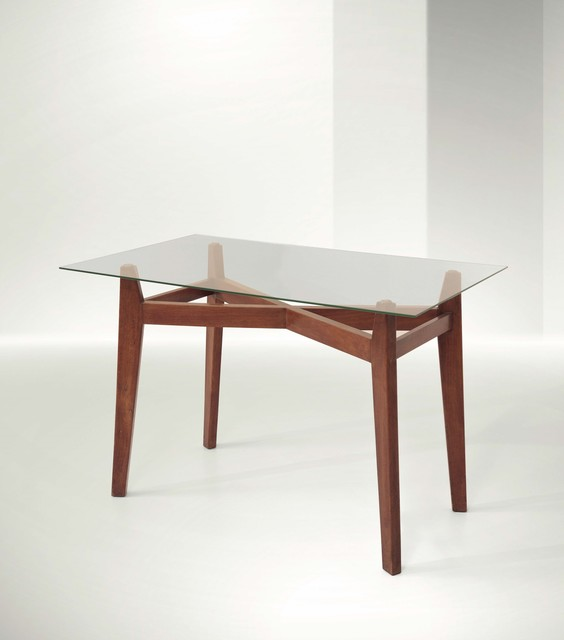 Franco Albini, 'a desk with a wooden structure and glass top', 1945, Design/Decorative Art, Cambi
