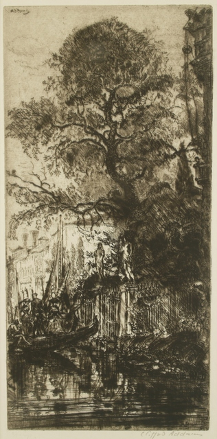Clifford Isaac Addams, 'Garden Entrance, Venice', 1913, Private Collection, NY