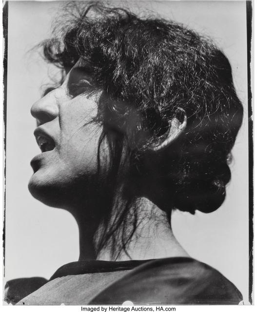 Edward Weston, 'Guadalupe Marin de Rivera, Mexico', 1924, Heritage Auctions