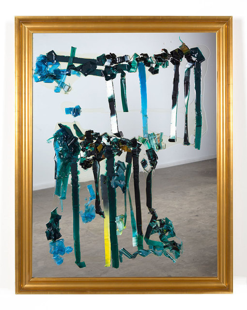 Dale Frank, 'How I live now 2', 2014, Painting, Scraped 200 x 200 cm varnish painting on glass, Roslyn Oxley9 Gallery