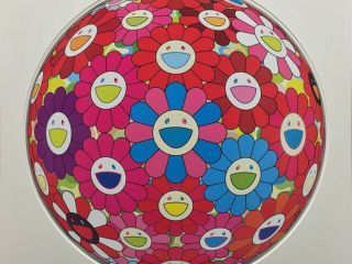 Takashi Murakami, 'Flowerball (3D) -Blue,Red', 2017, Ode to Art