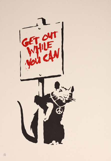 Banksy, 'Get Out While You Can', 2004, Chiswick Auctions