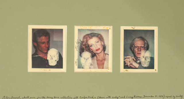, 'Peter Beard, Evelyn Kuhn and Andy Warhol Polaroid Shoot at the Factory,' 1976, HG Contemporary