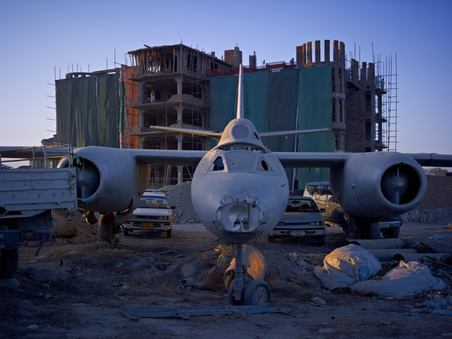 , 'A Dumping Ground For An Abandoned Russian-Era Bomber,' 2010, Benrubi Gallery